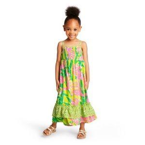 Lilly for Target Fan Dance Sleeveless Maxi Dress